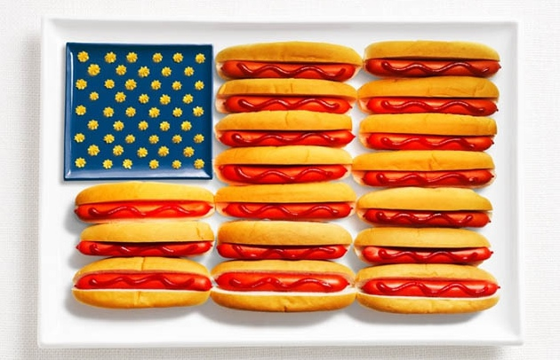 Hot-dogs, ketchup / moutard - USA