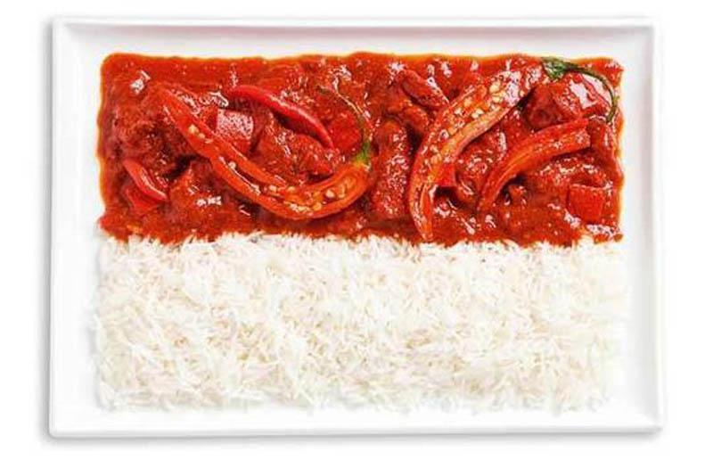 Curry de légumes & riz - INDONÉSIE