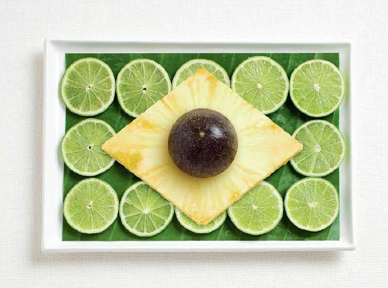 Citron vert, feuille de banane, ananas et maracudja - BRÉSIL