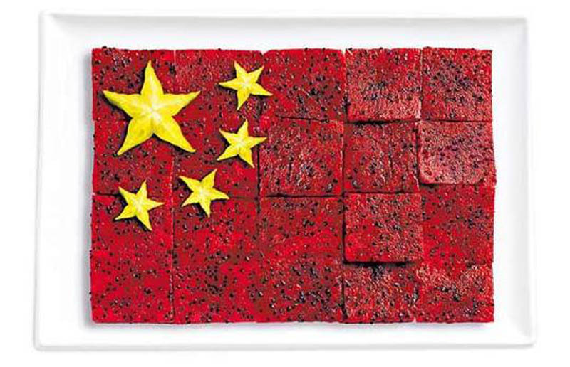 Pitaya et carambole - CHINE